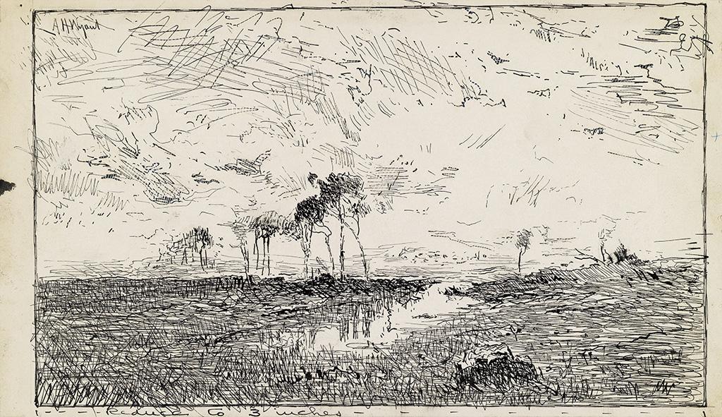 ALEXANDER-HELWIG-WYANT-Landscape-with-a-Pond