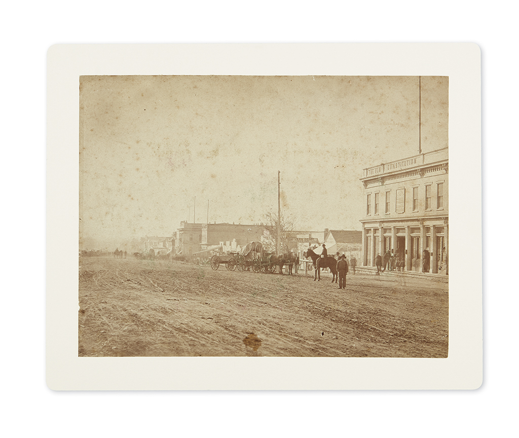 (MORMONS.) Group of photographs of 19th-century Mormons and Utah.