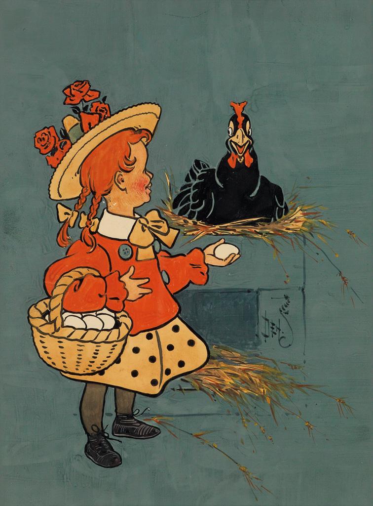 (CHILDRENS) W. W. DENSLOW. Higglepy, Piggleby, My Black Hen.