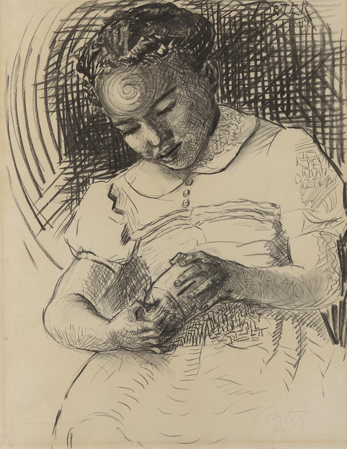 JAMES-A-PORTER-(1905---1970)-The-Piggy-Bank
