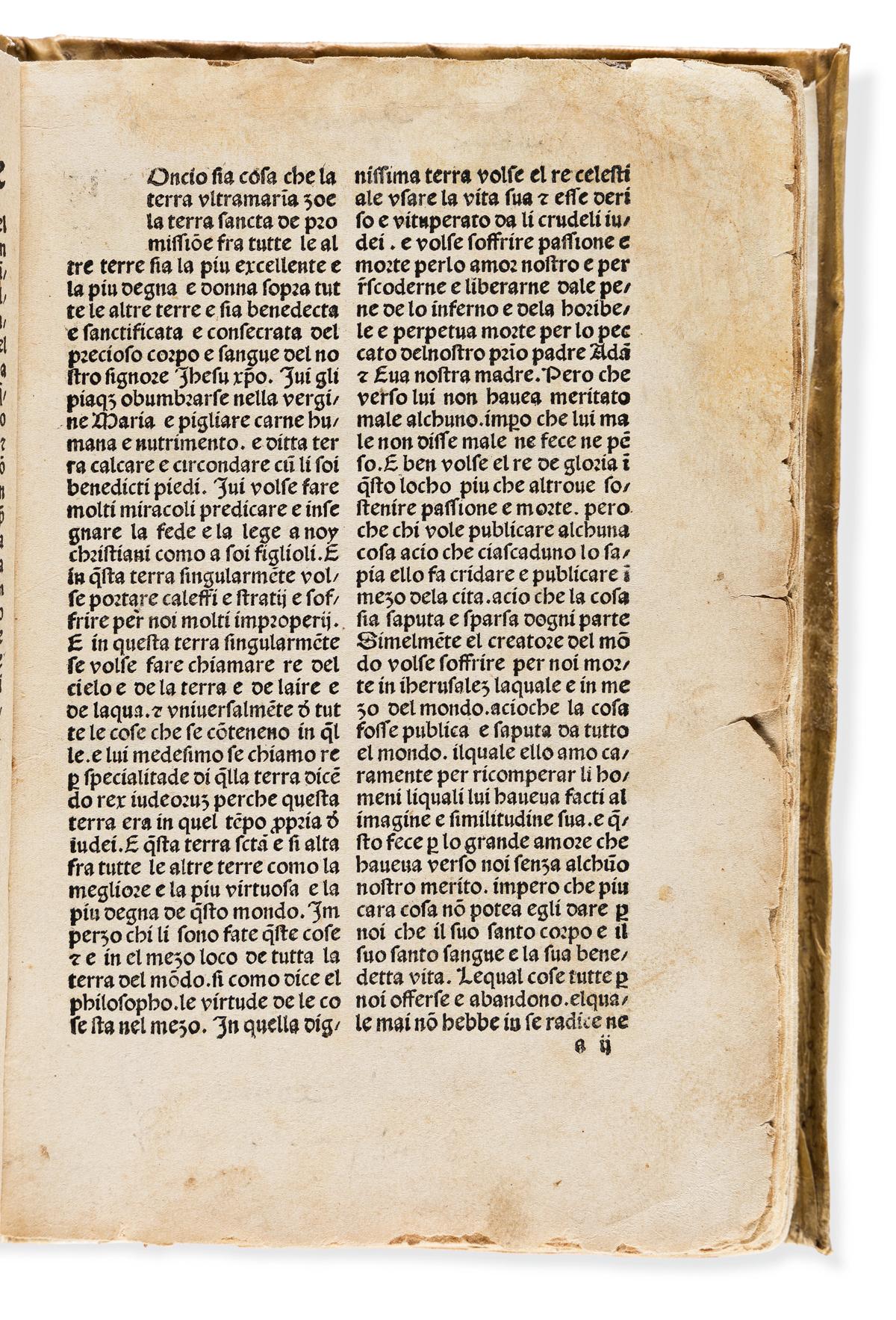 Mandeville, Jean de (fl. circa 1350-1370) Itinerarius [Italian] Tractato delle Piu Maravegliose Cosse.
