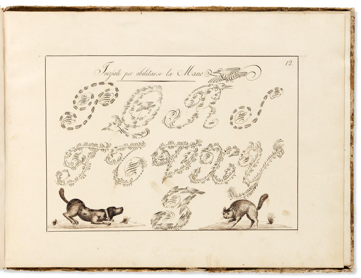Italian Manuscript Writing Manual. Esemplare di Caratteri Moderni.