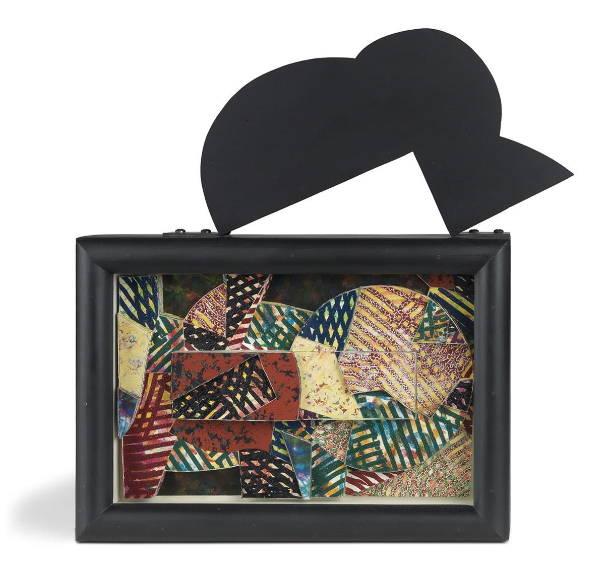 SAM GILLIAM (1933 -   ) Untitled (Shadow Box with Shape).
