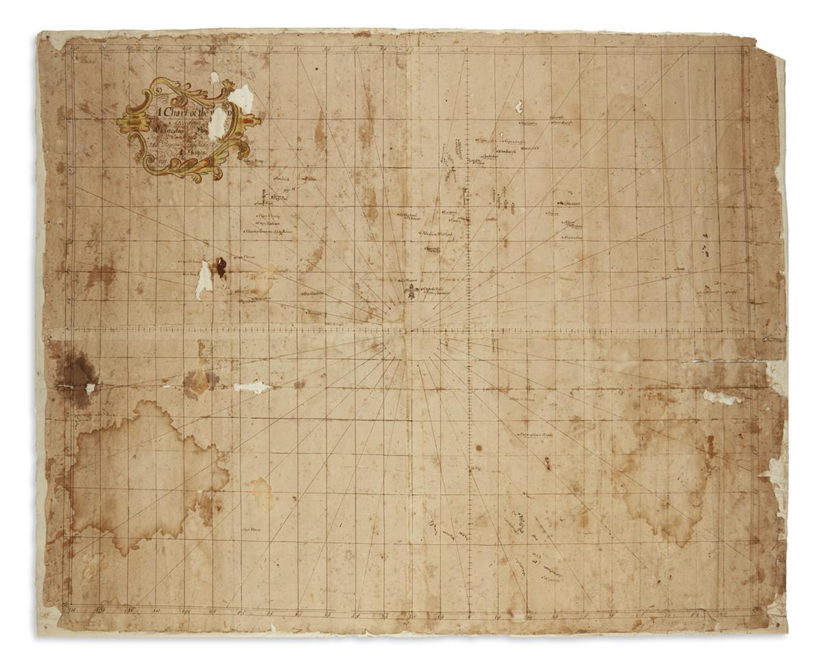 (MANUSCRIPT-MAP)-Rogers-A-A-Chart-of-the-World-According-to-