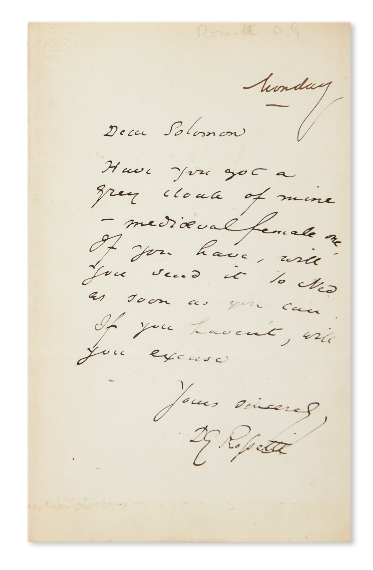 ROSSETTI-DANTE-GABRIEL-Autograph-Letter-Signed-DG-Rossetti-t