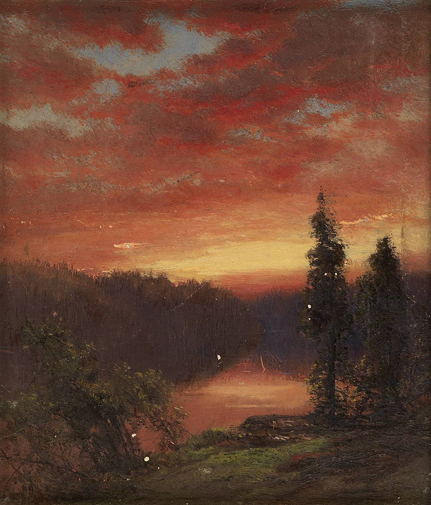JAMES-D-SMILLIE-Sunset-over-a-Lake