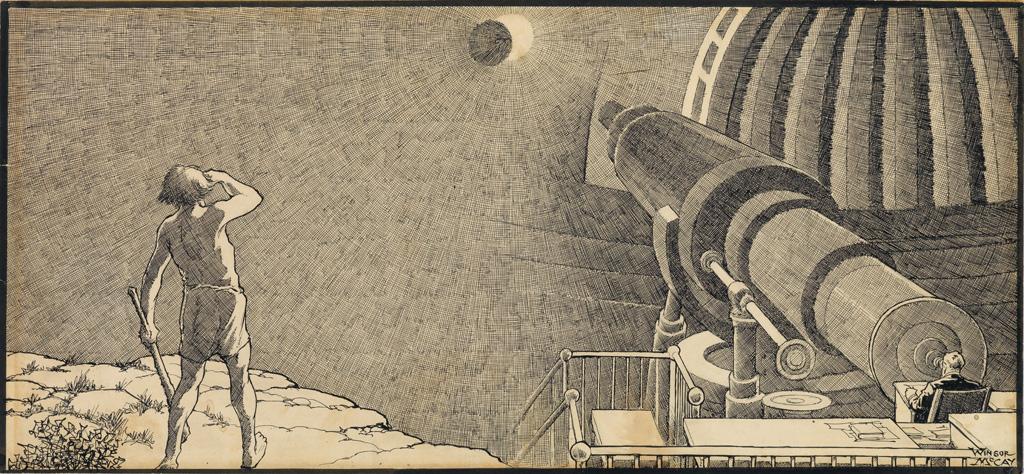 (CARTOON. SCIENCE. ASTRONOMY.) WINSOR McCAY. 200 Million Light Years.