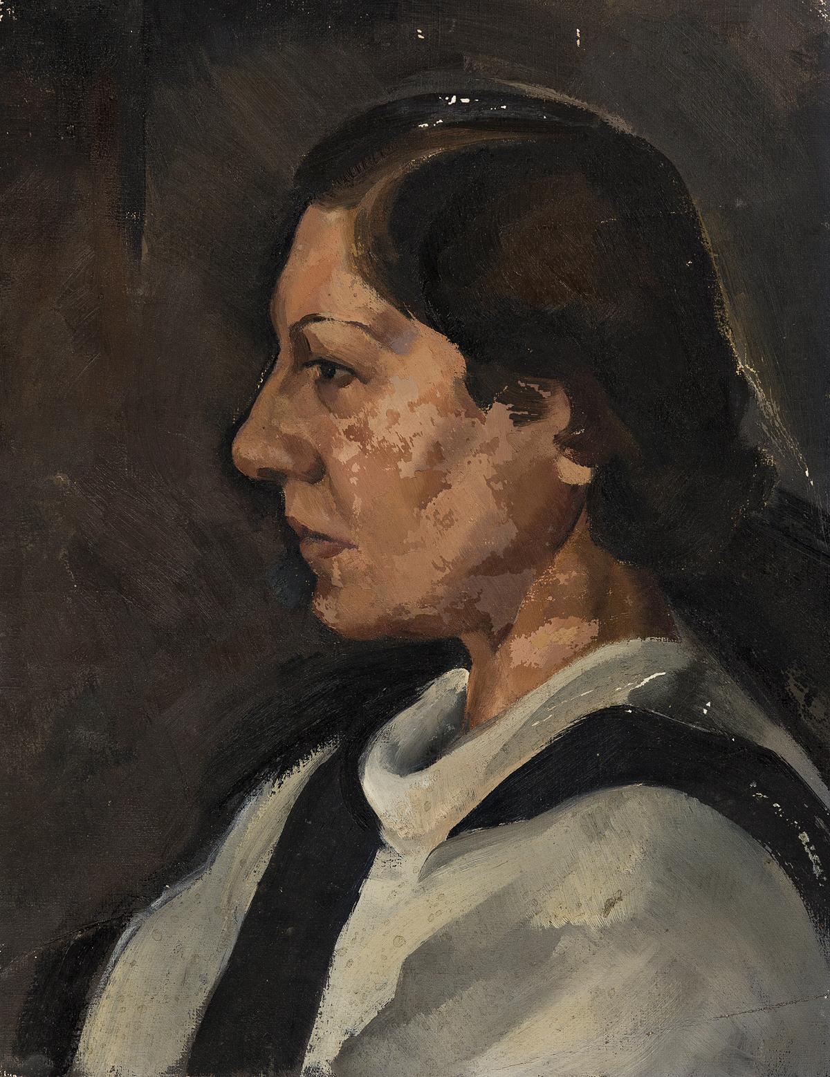 WILLIAM-BAZIOTES-Portrait-of-a-Woman