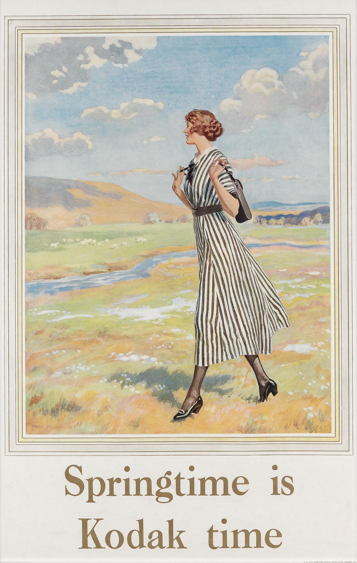 FRED-PEGRAM-(1870-1937)-SPRINGTIME-IS-KODAK-TIME-Circa-1920s-30x19-inches-76x49-cm-WH-Keep-[London]