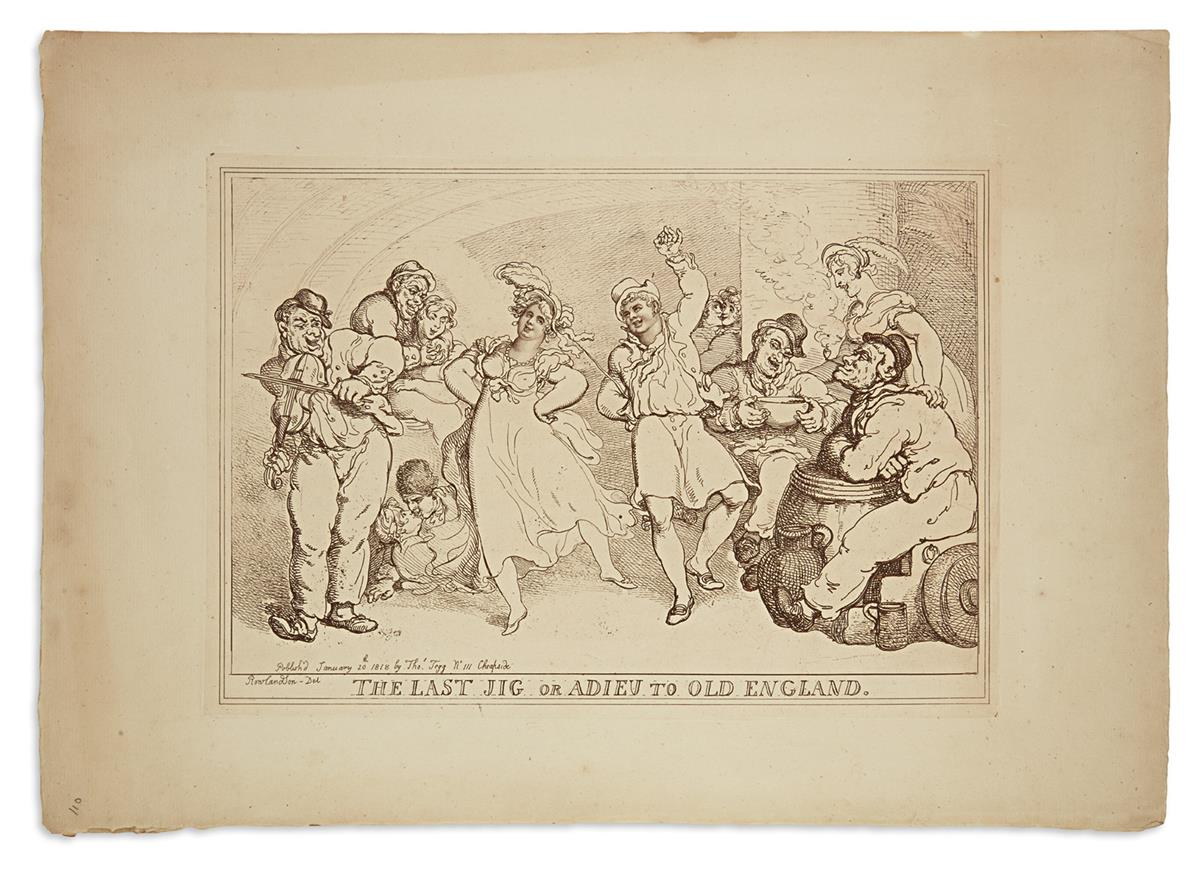 ROWLANDSON-THOMAS-Group-of-8-etched-plates-on-heavy-laid-pap