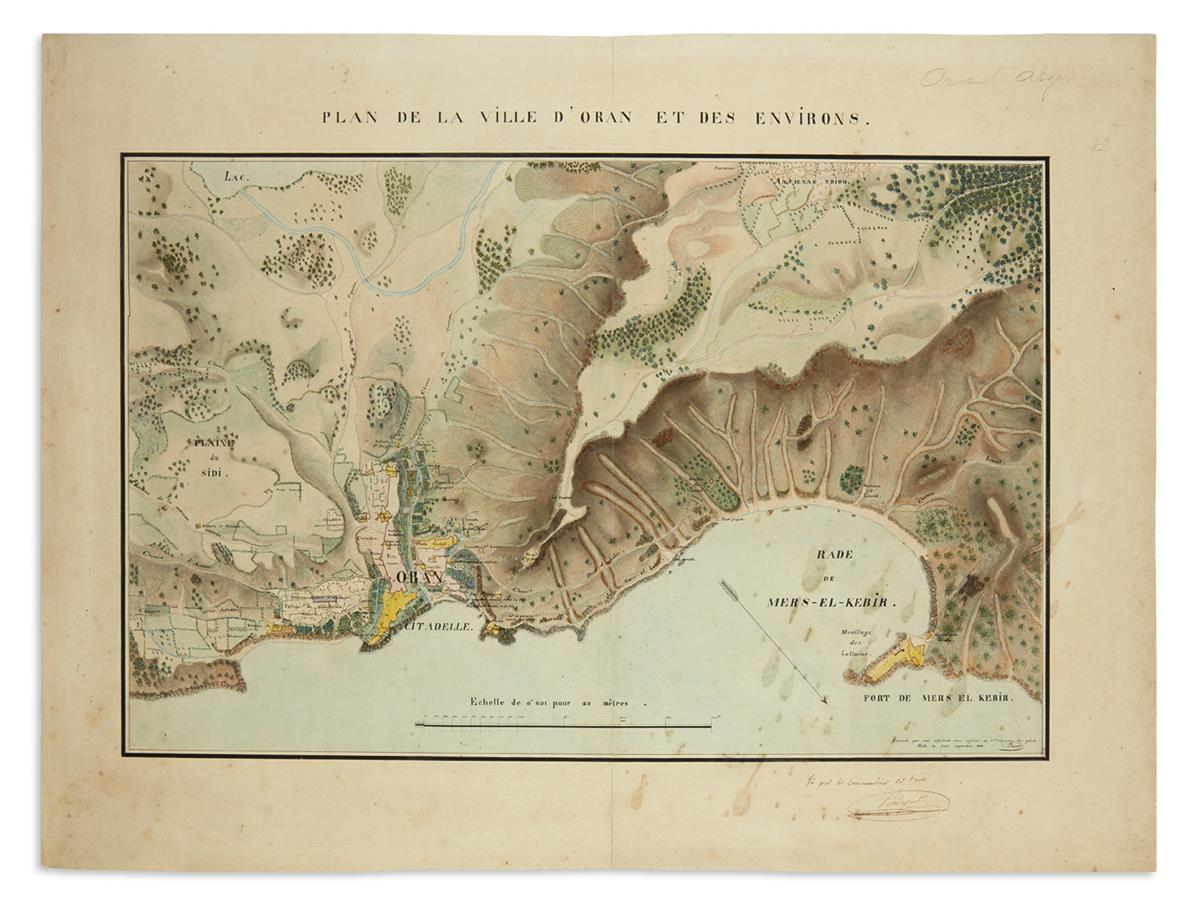 (MANUSCRIPT-MAP)-Plan-de-la-Ville-dOran-et-des-Environs