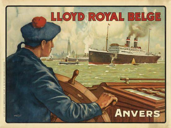 (COMPAGNIE ROYAL BELGE - BELGIAN LLOYD ROYAL.) Lloyd Royal Belge. Anvers.