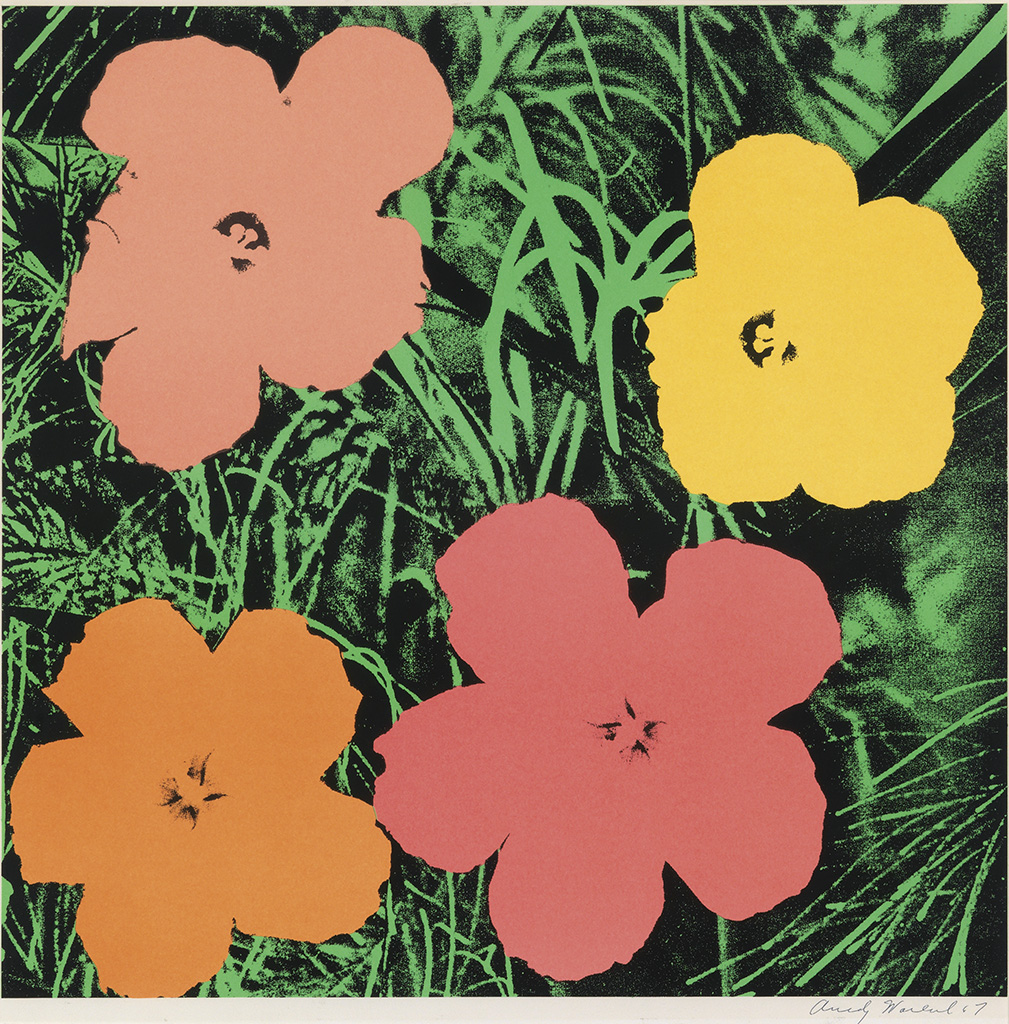 ANDY WARHOL Flowers--Leo Castelli Gallery Exhibition Poster.