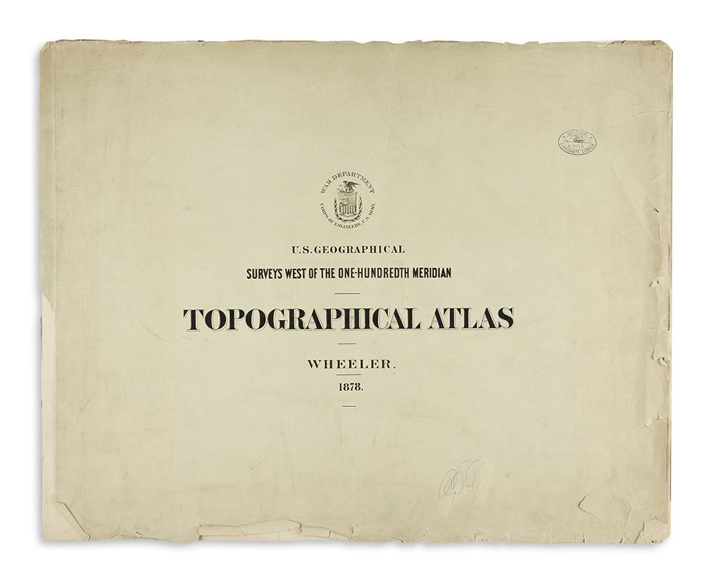 WHEELER, GEORGE. Topographical Atlas
