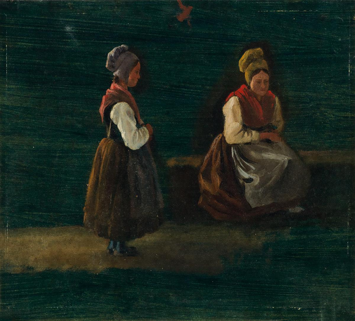 PROSPER FRANÇOIS IRÉNÉE BARRIGUE, CALLED FONTAINIEU (Marseille 1760-1850 Marseille) Study of Two Women.