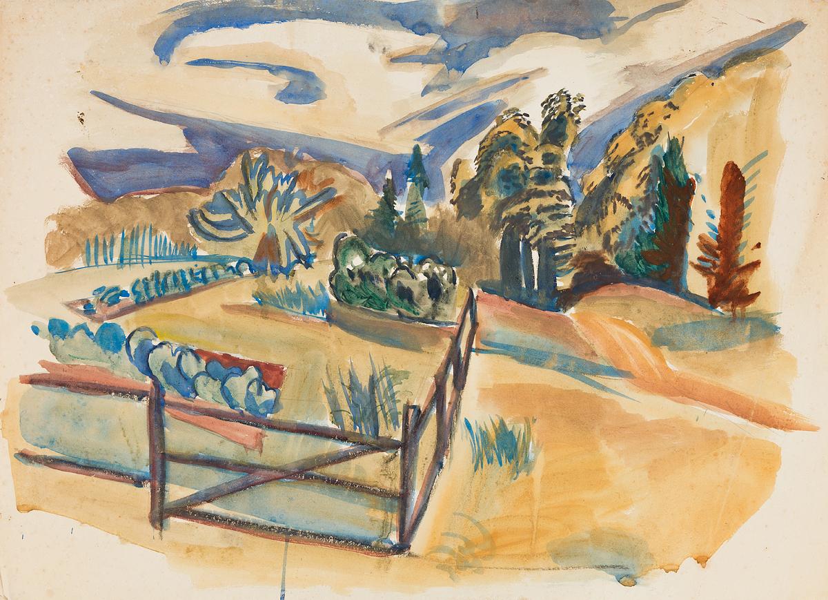 FAIRFIELD-PORTER-Three-watercolor-landscape-studies