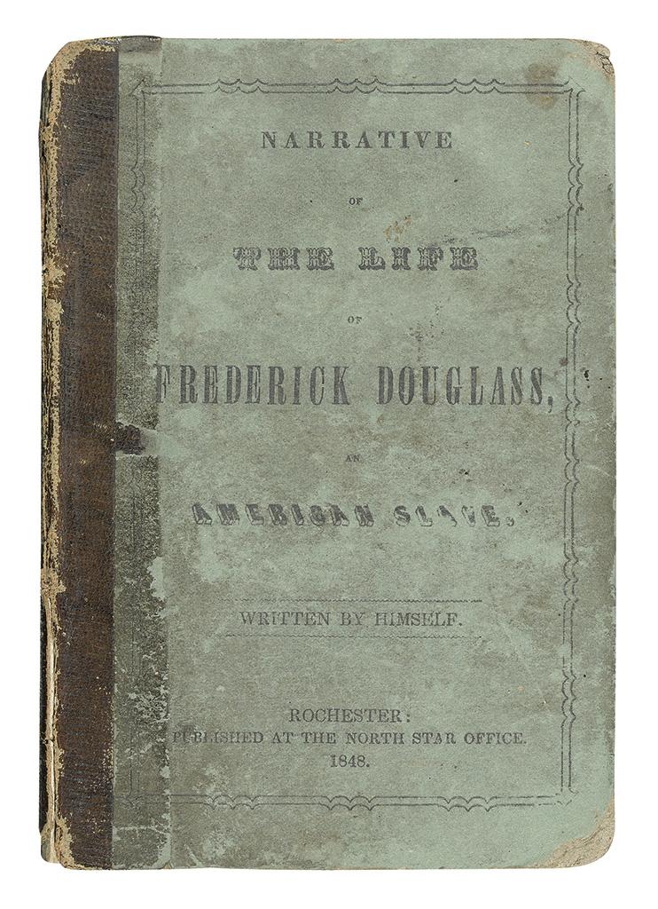 DOUGLASS, FREDERICK. Narrative of the Life of Frederick Douglass, an American Slave, Written by Himself.