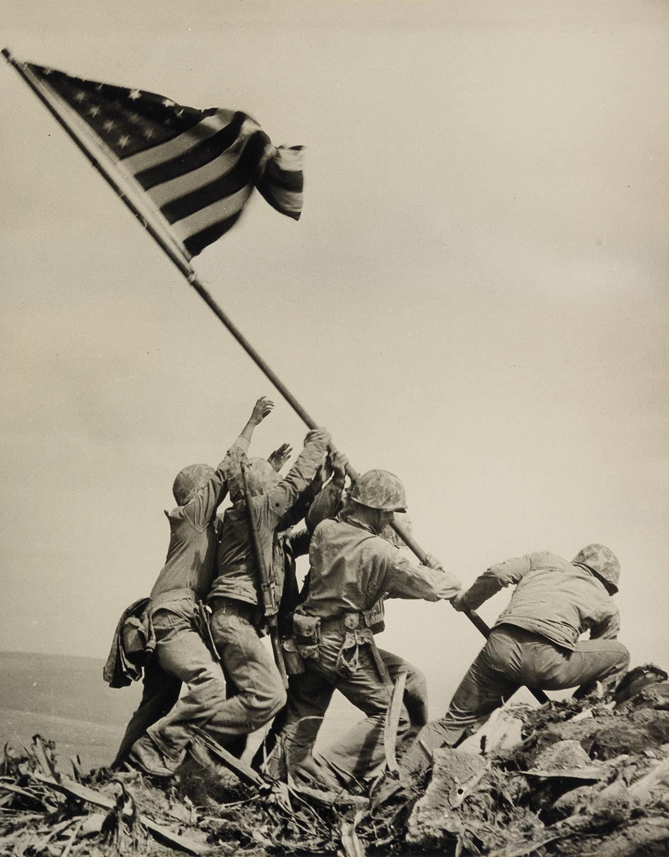 JOE-ROSENTHAL-(1911-2006)-Raising-the-US-Flag-at-Mt-Suribach