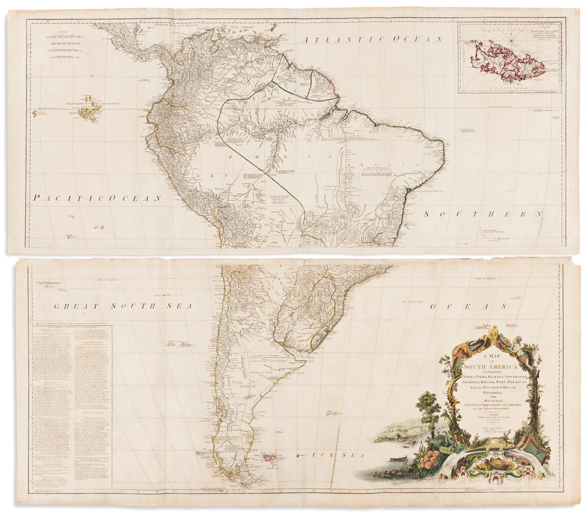 JEFFERYS, THOMAS; after J.B. DANVILLE. A Map of South America