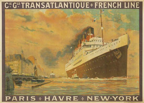(FRENCH LINE.) France (III). Cie. Gle. Transatlantique * French Line * Paris * Hâvre * New-York.