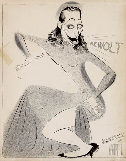 "AL HIRSCHFELD. Fanny Brice Singing """"Modernistic Moe,"""""