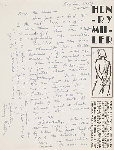 MILLER-HENRY-Archive-of-20-letters-to-Bart-Winer-the-editor-