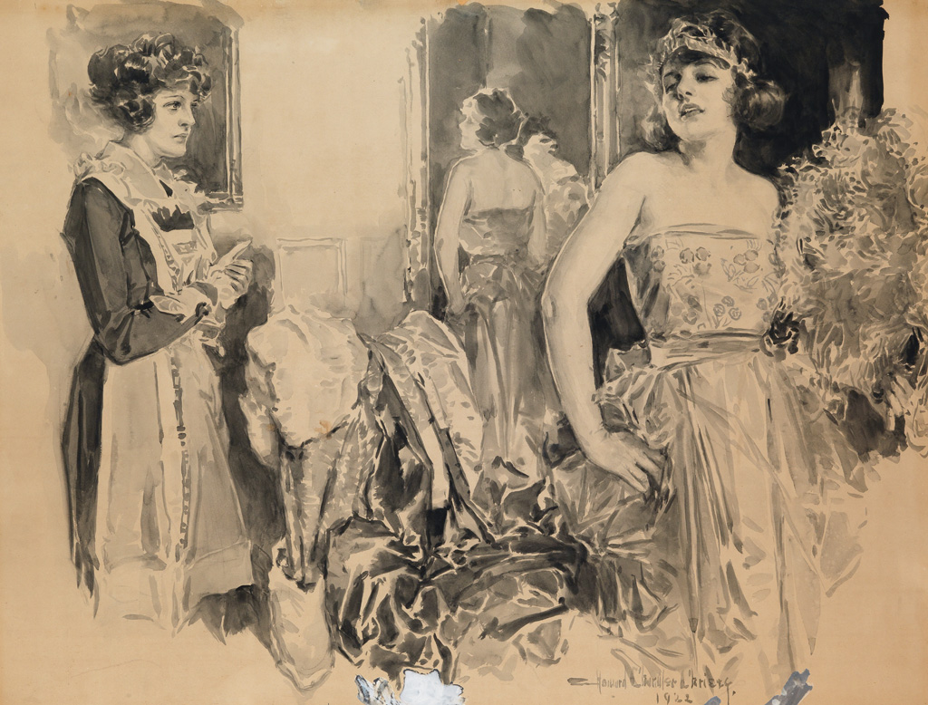 HOWARD CHANDLER CHRISTY. Did you see the way he looked at me?