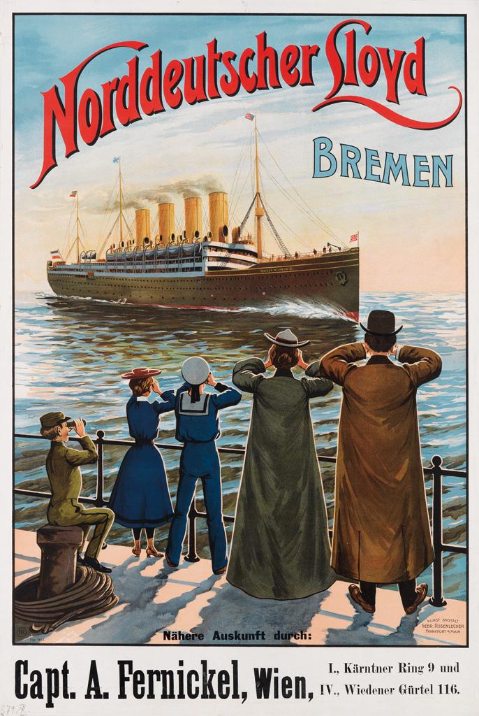 DESIGNER-UNKNOWN-NORDDEUTSCHER-LLOYD-BREMEN-Circa-1904-31x21