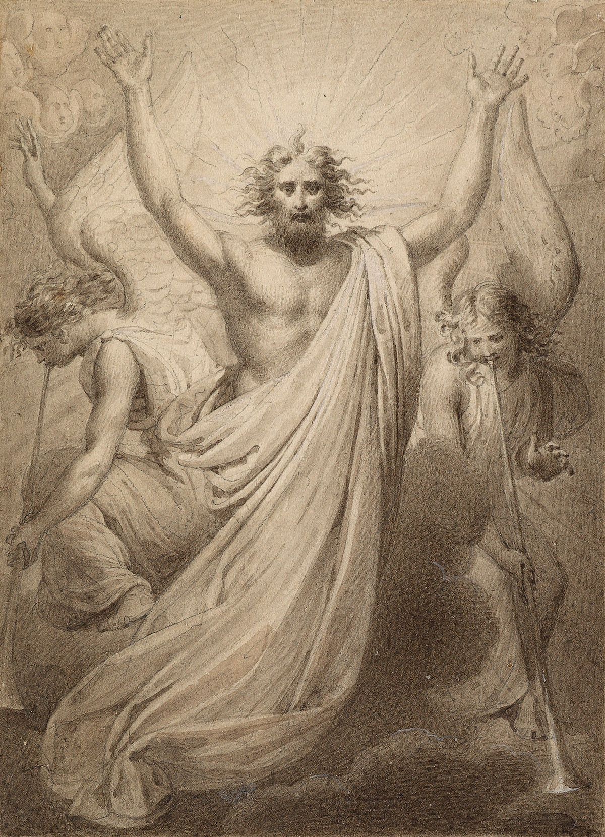 FRENCH-SCHOOL-19TH-CENTURY-Resurrected-Christ-in-Glory