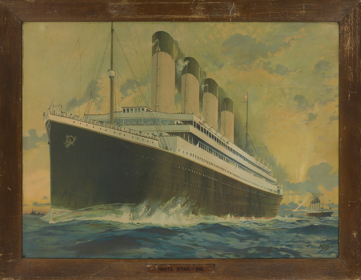 MONTAGUE BIRRELL BLACK (1884-1964). [WHITE STAR LINE / OLYMPIC & TITANIC.] Circa 1910. 29x39 inches, 75x101 cm. [Liverpool Printing & S