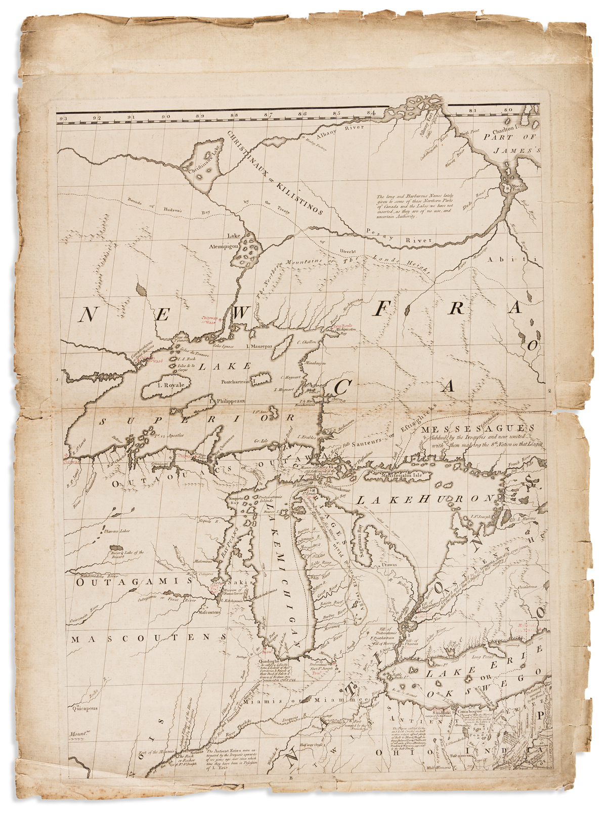 MITCHELL, JOHN. [Sheet 2, from]: A Map of the British and French Dominions in North America.