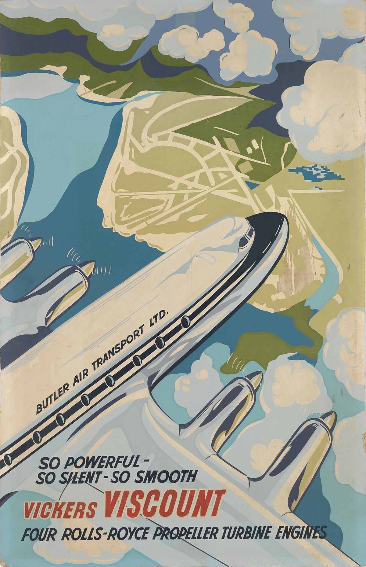 DESIGNER-UNKNOWN-VICKERS-VISCOUNT-Circa-1955-39x25-inches-99