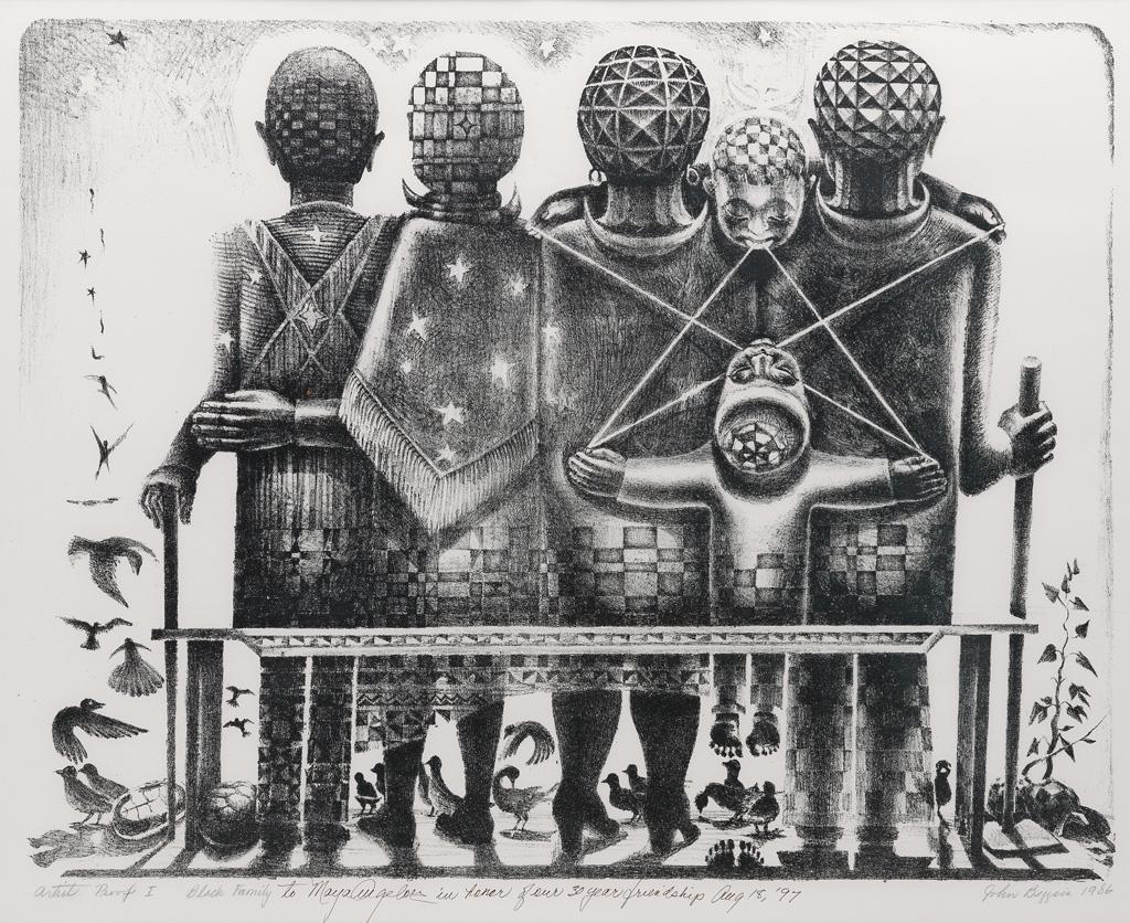JOHN BIGGERS (1924 - 2001) Black Family (Family of Six).