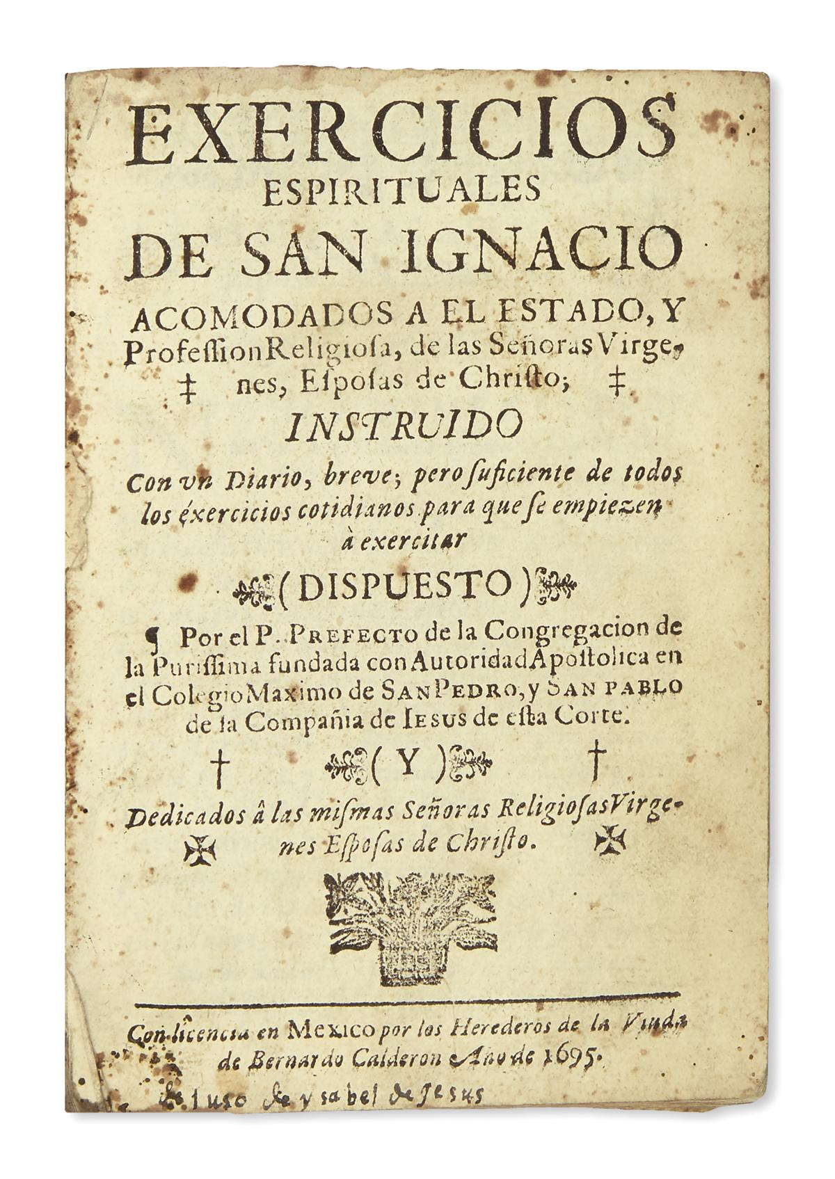 (MEXICAN-IMPRINT--1695)-[Nuñez-Antonio-de;-editor]-Exercicio