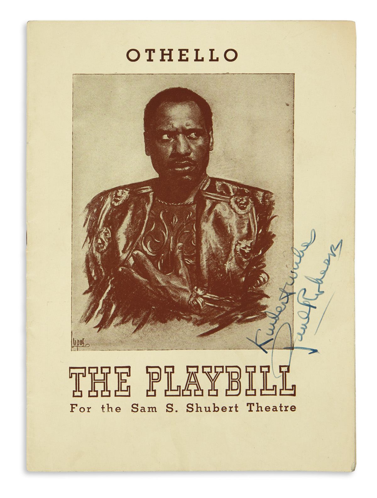 (ENTERTAINMENT--THEATER)-Playbill-for-a-performance-of-Othel