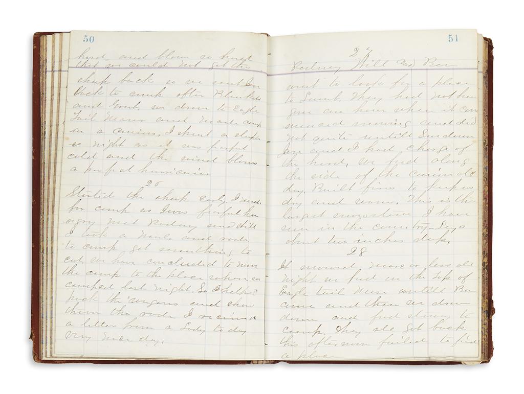 (COLORADO.) Carr, Charles. Diary of a Colorado sheep herder.