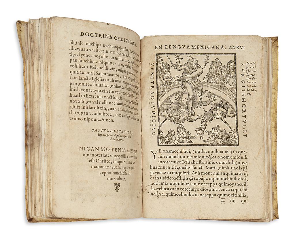 (MEXICAN IMPRINT--1578.) Molina, Alonso de. Doctrina Christiana, en lengua Mexicana muy necessaria.