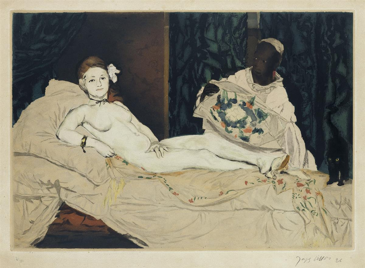 ÉDOUARD MANET (after)  Olympia