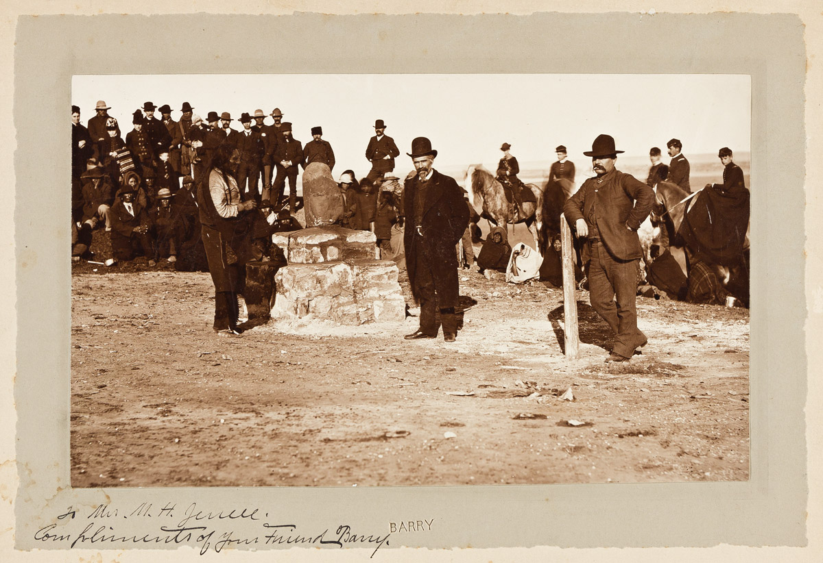 (AMERICAN INDIANS--PHOTOGRAPHS.) David F. Barry. Group of 5 photographs including Sitting Bull at the dedication of Standing Rock.