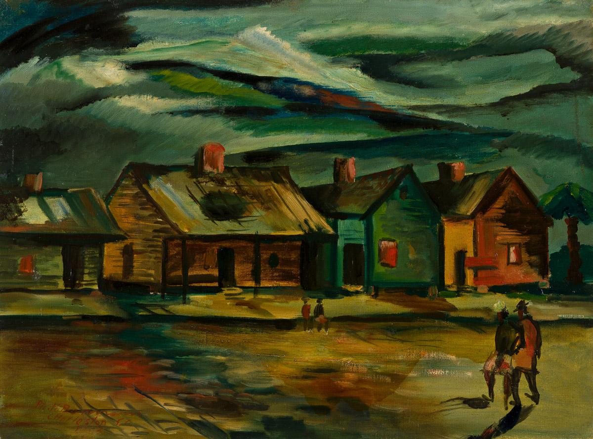 HENRY W. BANNARN (1910 - 1965) Rowhouses, Charleston, SC.