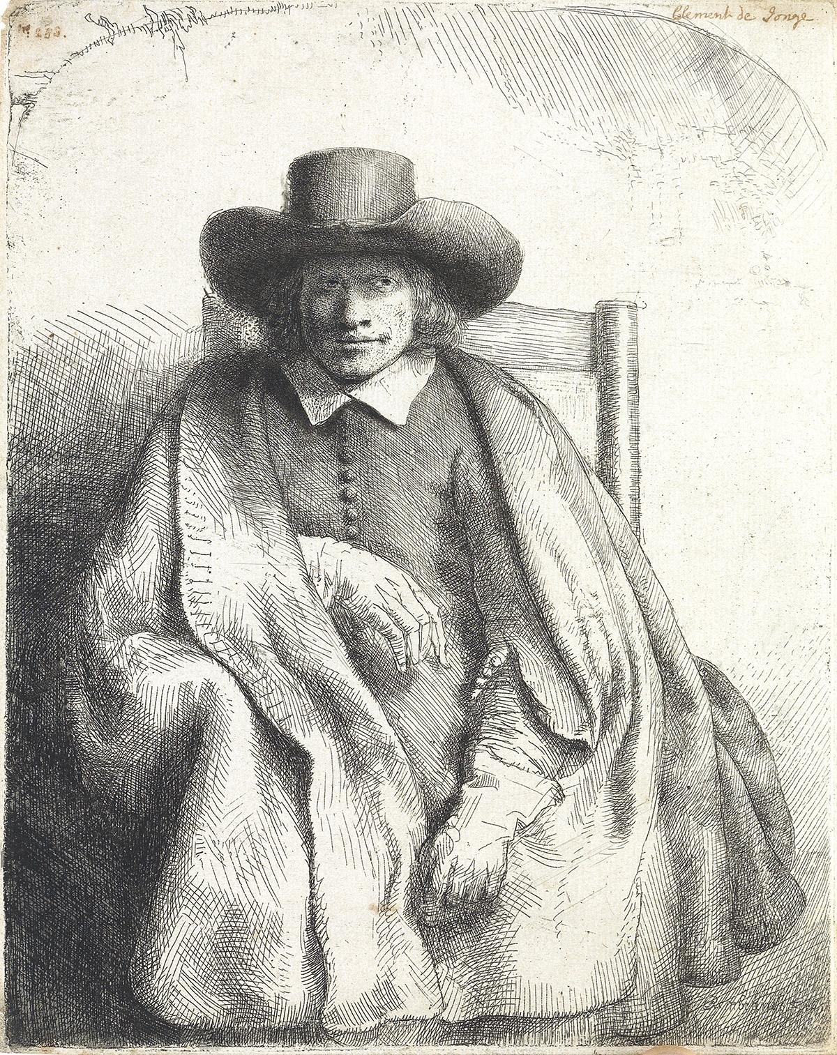 REMBRANDT-VAN-RIJN-Clement-de-Jonghe-Printseller