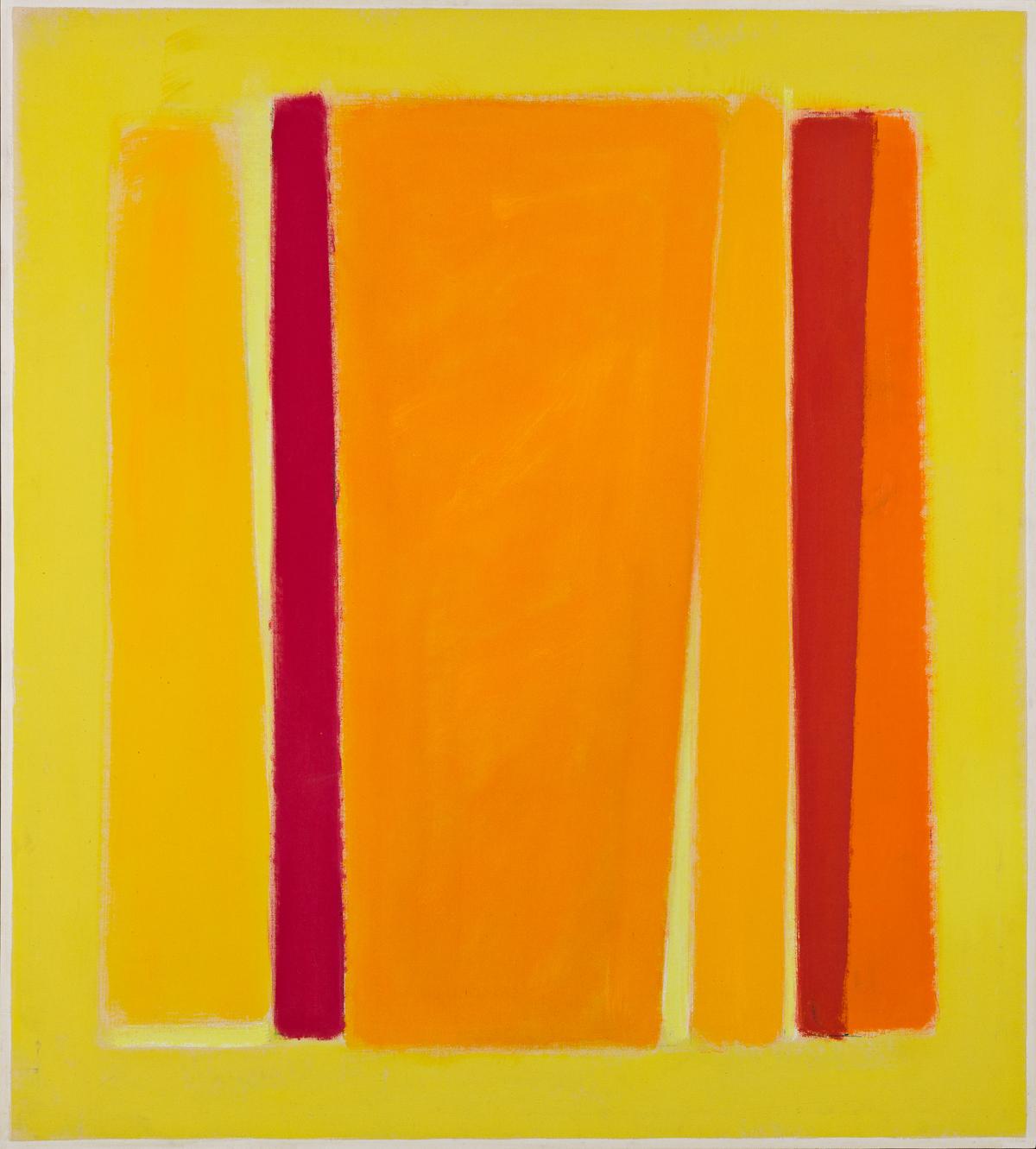 JOHN OPPER, (1908 - 1994, AMERICAN) Pale Yellow Field.