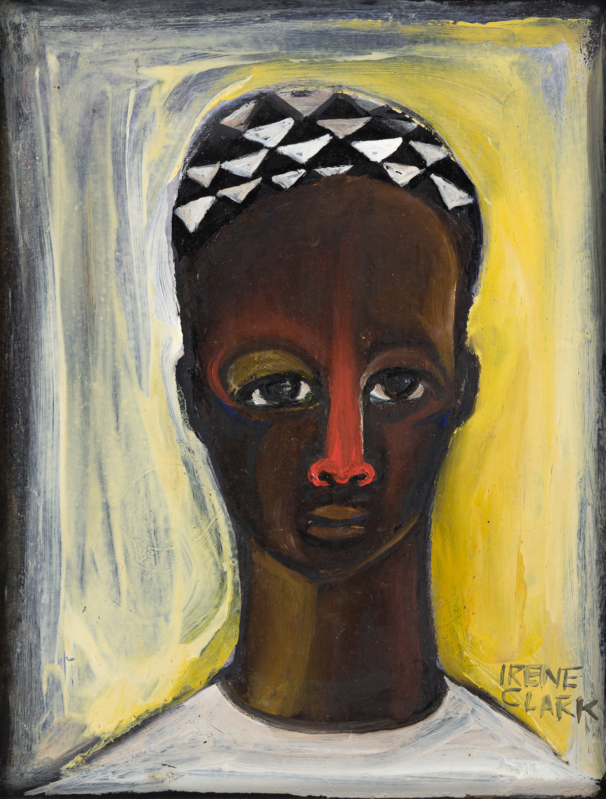 IRENE V. CLARK (1927 - 1984) Untitled (Head of an African Man).