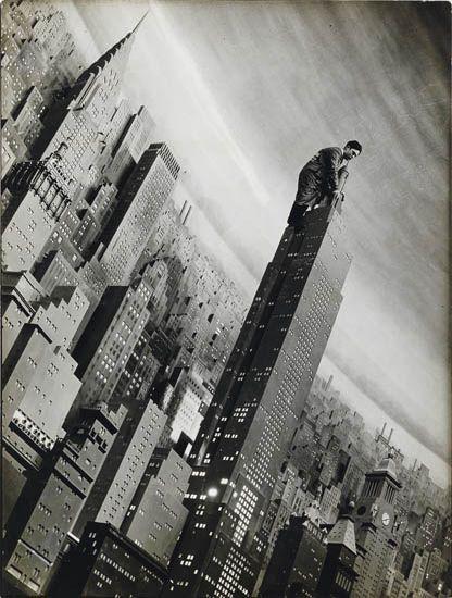 BOURKE-WHITE-MARGARET-(1904-1971)-Man-working-on-replica-of-