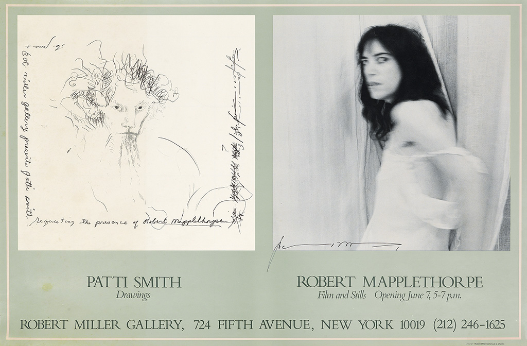 AFTER PATTI SMITH (1946- ) & AFTER ROBERT MAPPLETHORPE (1946-1989). PATTI SMITH DRAWINGS / ROBERT MAPPLETHORPE FILM AND STILLS / ROBERT