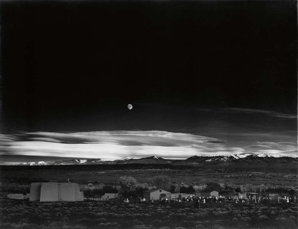 ANSEL-ADAMS-(1902-1984)-Moonrise-Hernandez-New-Mexico