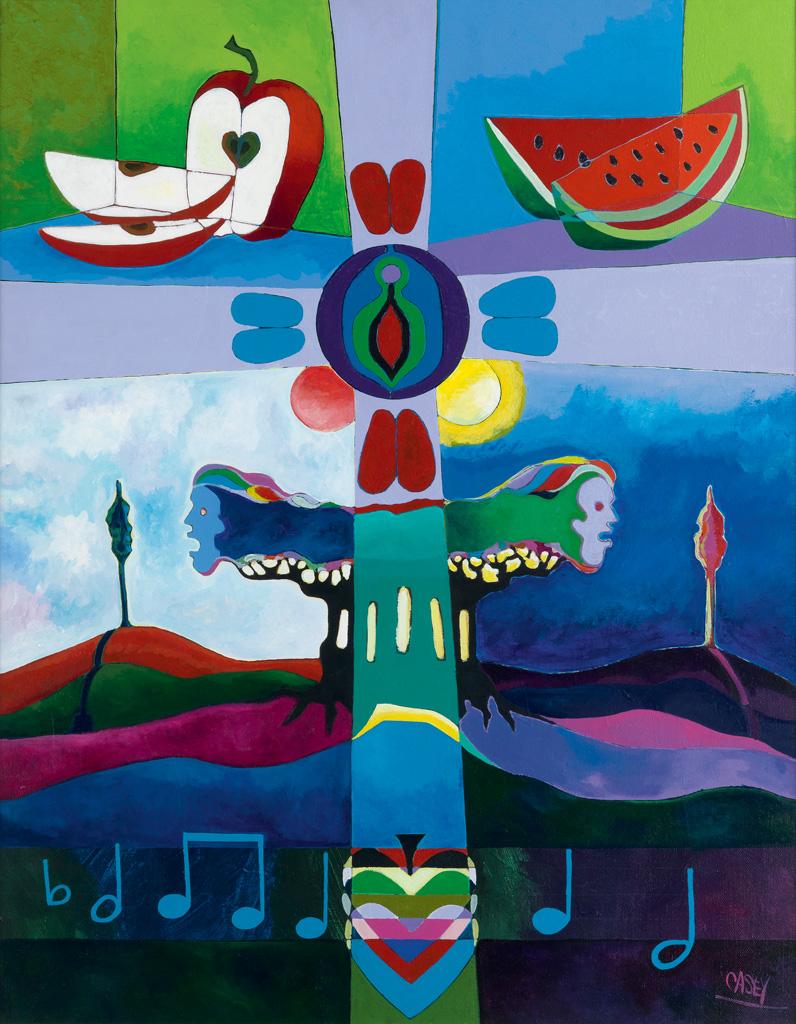BERNARD CASEY (1939 -   ) Music and Fruit (Songs in Eden).