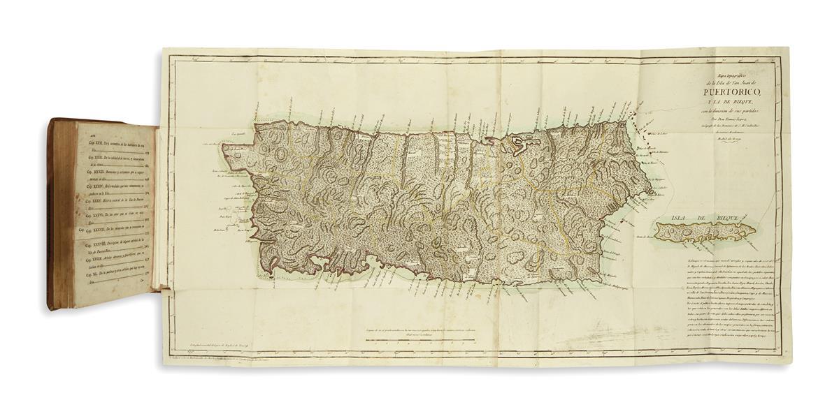 (PUERTO RICO.) Abbad, Iñigo. Historia geográfica civil y política de la isla de S. Juan Bautista de Puerto Rico.