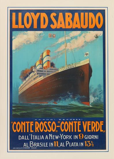 "(LLOYD SABAUDO LINE.) ""Conte Rosso"" and ""Conte Verde."" Lloyd Sabaudo. Grandi Espressi ""Conte Rosso""-""Conte Verde."""