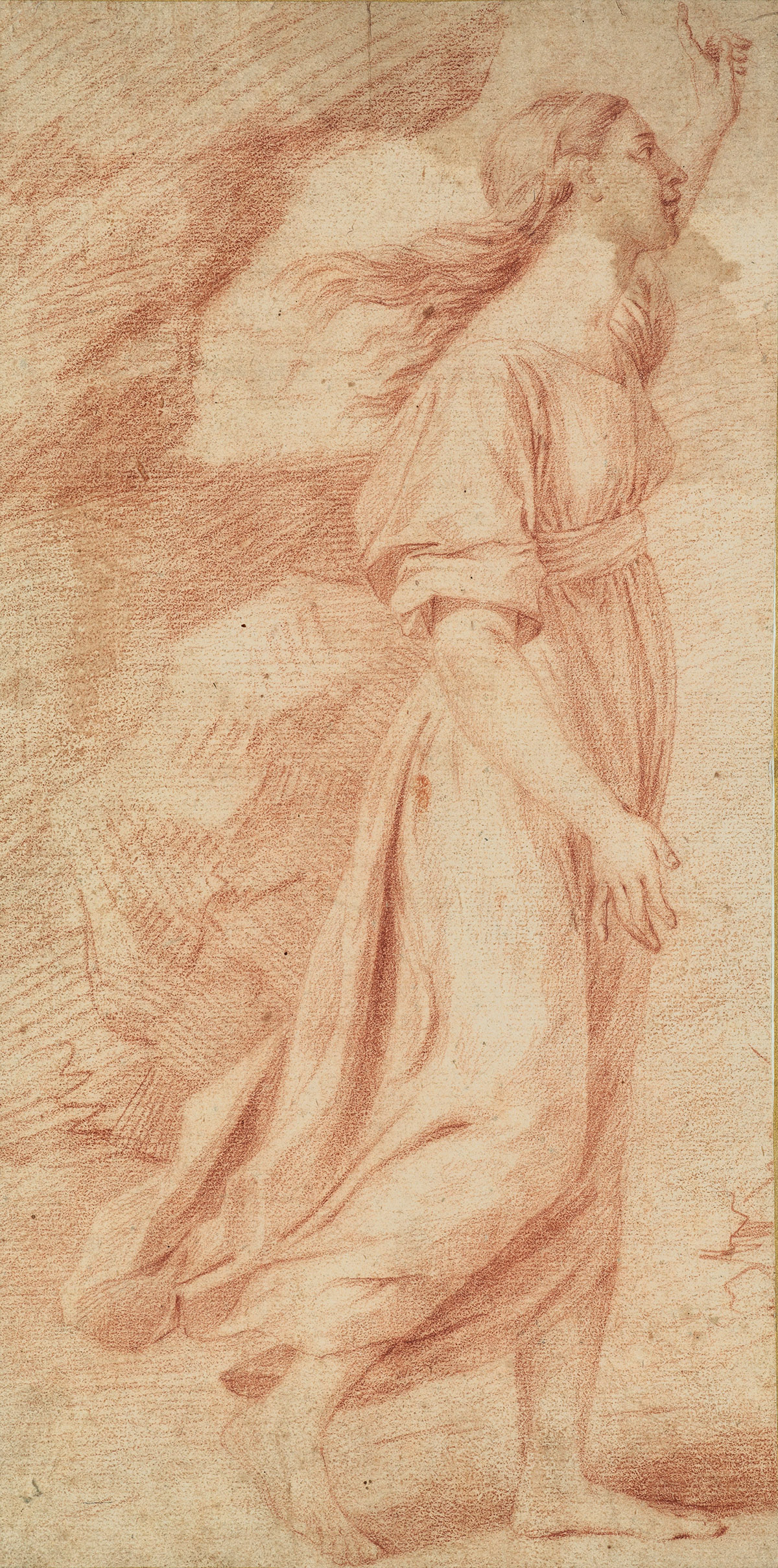 FRENCH-SCHOOL-17TH-CENTURY-A-Woman-Walking-to-the-Right-in-P